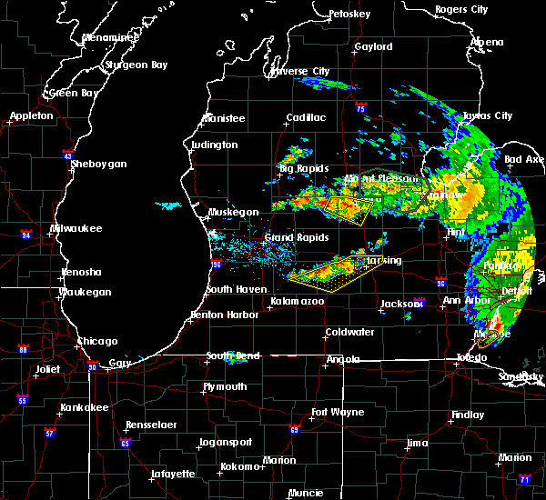 Radar Image for Severe Thunderstorms near Dowling, MI at 9/3/2015 4:00 PM EDT