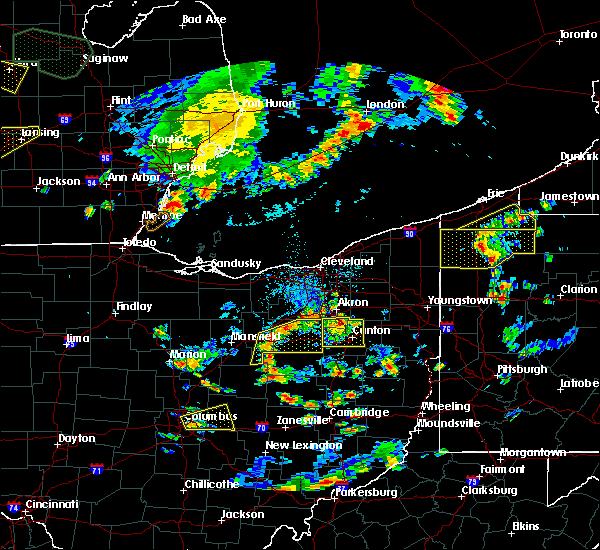 Radar Image for Severe Thunderstorms near Meyers Lake, OH at 9/3/2015 4:12 PM EDT