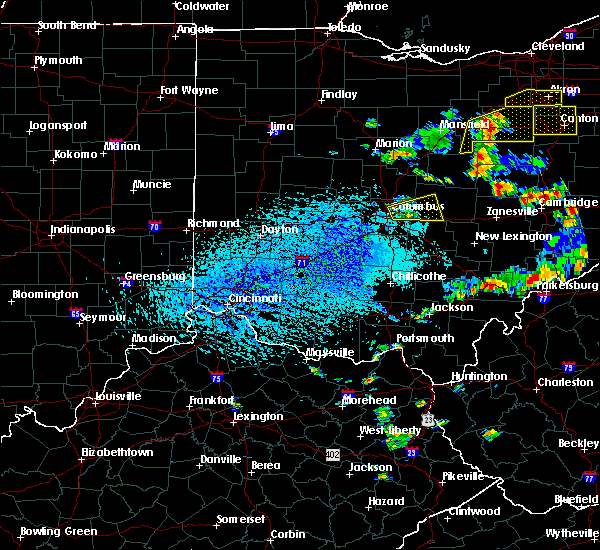 Radar Image for Severe Thunderstorms near Westerville, OH at 9/3/2015 4:27 PM EDT