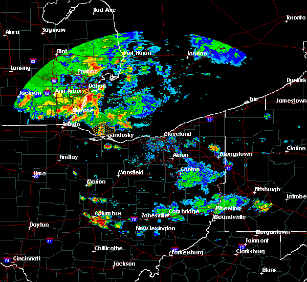Radar Image for Severe Thunderstorms near Bellevue, OH at 9/3/2015 7:31 PM EDT