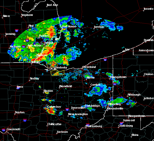 Radar Image for Severe Thunderstorms near Vermilion, OH at 9/3/2015 7:57 PM EDT