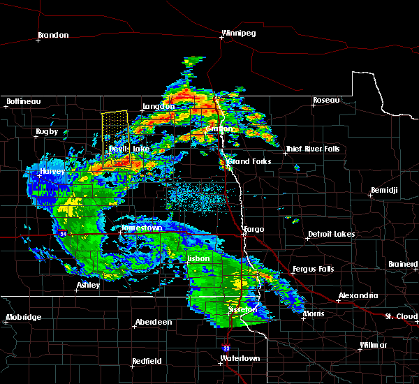 Radar Image for Severe Thunderstorms near Starkweather, ND at 9/4/2015 12:45 PM CDT