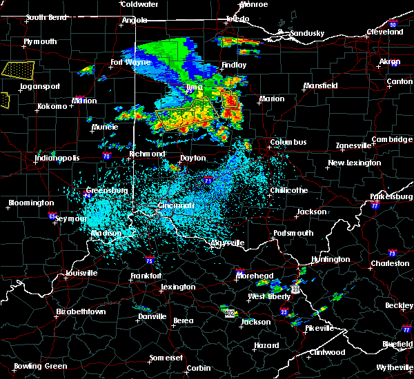 Radar Image for Severe Thunderstorms near Kenton, OH at 9/4/2015 3:32 PM EDT
