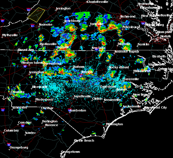Radar Image for Severe Thunderstorms near Durham, NC at 9/4/2015 3:37 PM EDT
