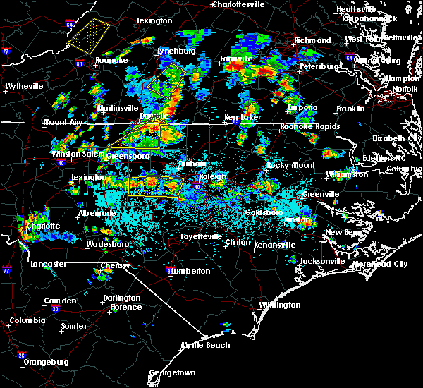 Radar Image for Severe Thunderstorms near Moncure, NC at 9/4/2015 3:58 PM EDT