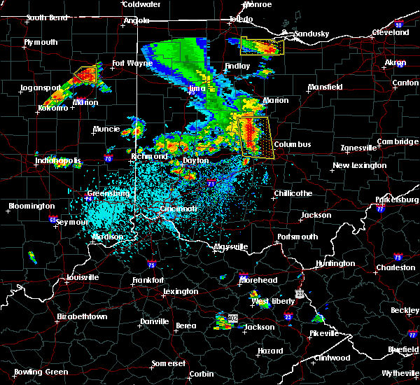 Radar Image for Severe Thunderstorms near Marble Cliff, OH at 9/4/2015 4:24 PM EDT