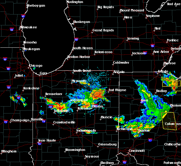 Radar Image for Severe Thunderstorms near Fort Wayne, IN at 9/4/2015 4:34 PM EDT