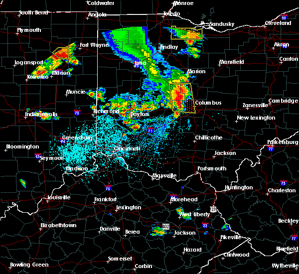 Radar Image for Severe Thunderstorms near Marble Cliff, OH at 9/4/2015 4:33 PM EDT