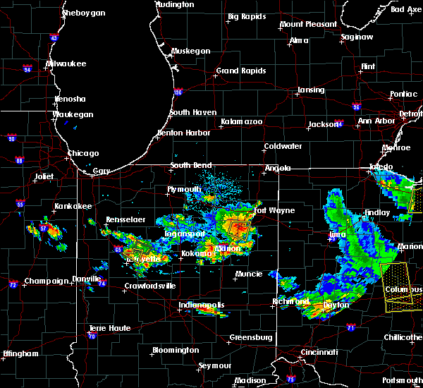 Radar Image for Severe Thunderstorms near Fort Wayne, IN at 9/4/2015 4:51 PM EDT