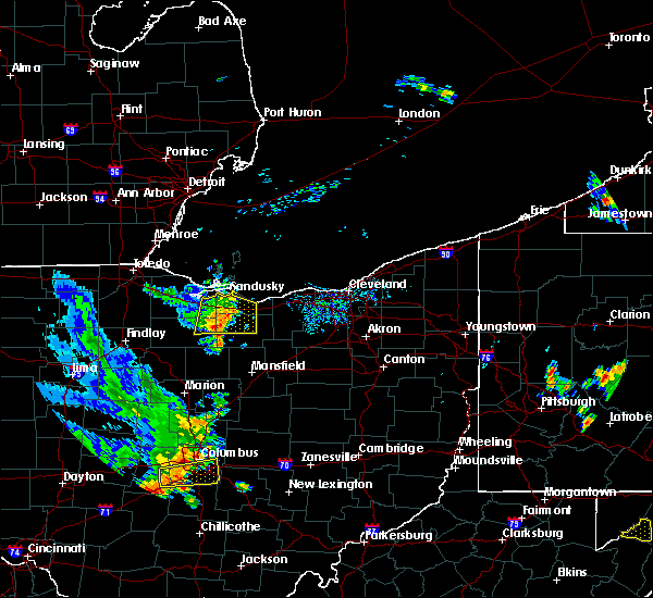 Radar Image for Severe Thunderstorms near Bellevue, OH at 9/4/2015 5:07 PM EDT