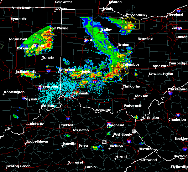 Radar Image for Severe Thunderstorms near Obetz, OH at 9/4/2015 5:14 PM EDT