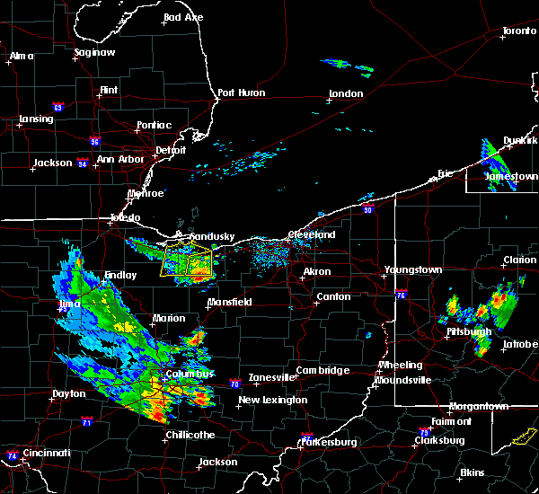 Radar Image for Severe Thunderstorms near Polk, OH at 9/4/2015 5:33 PM EDT