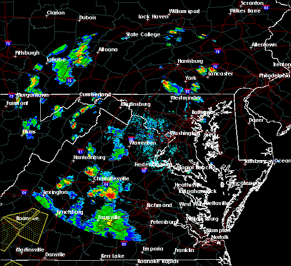 Radar Image for Severe Thunderstorms near Dawson, MD at 9/4/2015 5:40 PM EDT