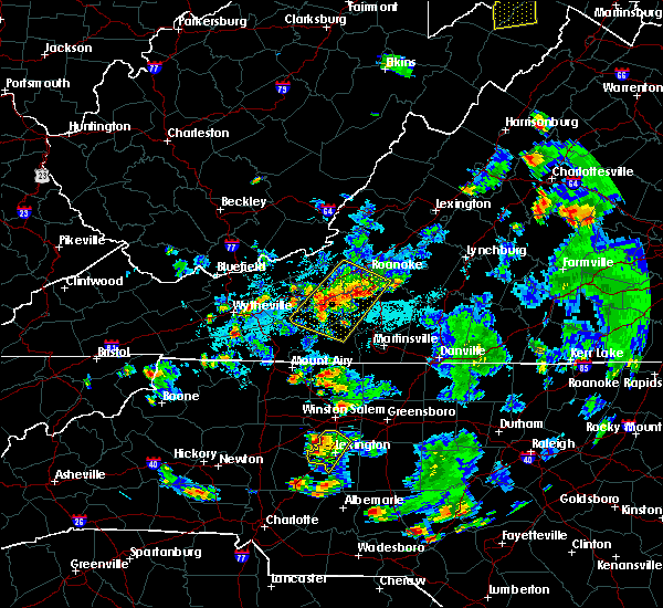 Radar Image for Severe Thunderstorms near Riner, VA at 9/4/2015 6:01 PM EDT