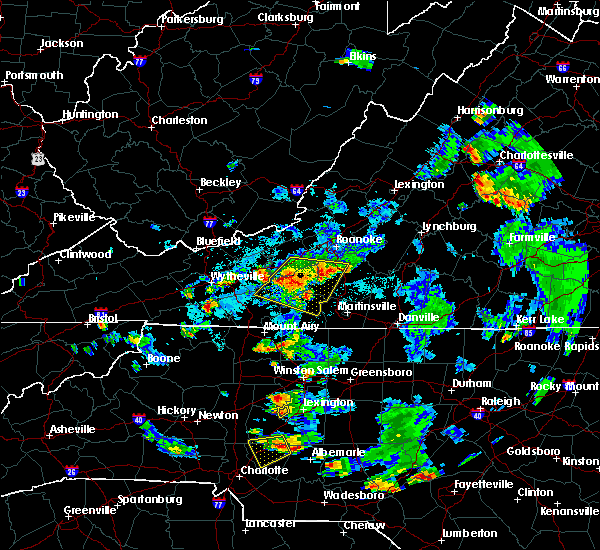 Radar Image for Severe Thunderstorms near Riner, VA at 9/4/2015 6:14 PM EDT