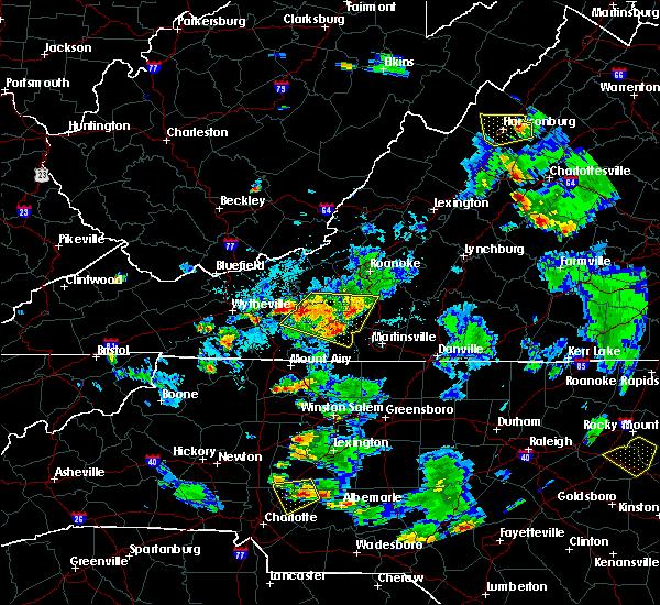 Radar Image for Severe Thunderstorms near Riner, VA at 9/4/2015 6:25 PM EDT