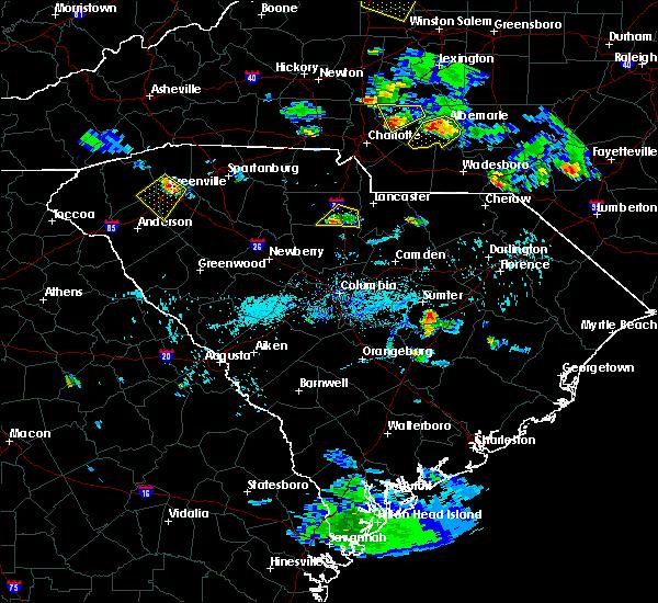 Radar Image for Severe Thunderstorms near Winnsboro, SC at 9/4/2015 6:59 PM EDT