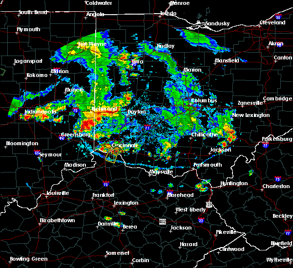 Radar Image for Severe Thunderstorms near Cincinnati, OH at 9/4/2015 7:05 PM EDT