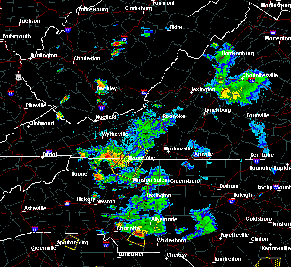 Radar Image for Severe Thunderstorms near Elkin, NC at 9/4/2015 7:42 PM EDT