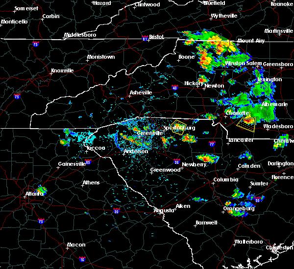 Radar Image for Severe Thunderstorms near Gaffney, SC at 9/4/2015 7:56 PM EDT