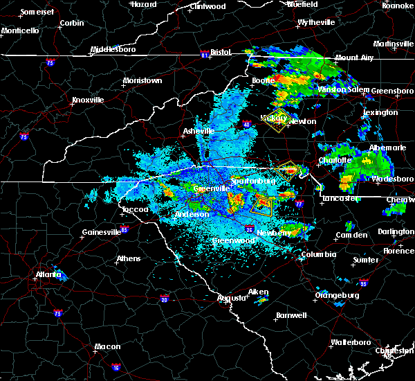 Radar Image for Severe Thunderstorms near Hudson, NC at 9/4/2015 8:26 PM EDT