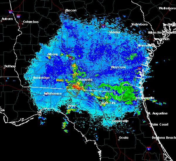 Radar Image for Severe Thunderstorms near Valdosta, GA at 9/4/2015 9:54 PM EDT