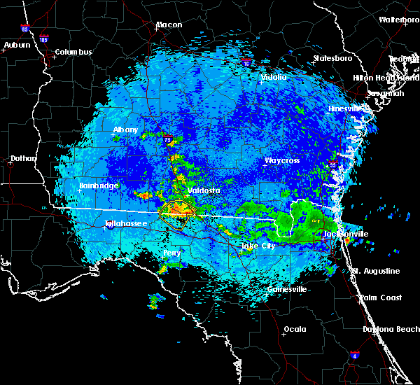 Radar Image for Severe Thunderstorms near Madison, FL at 9/4/2015 10:12 PM EDT