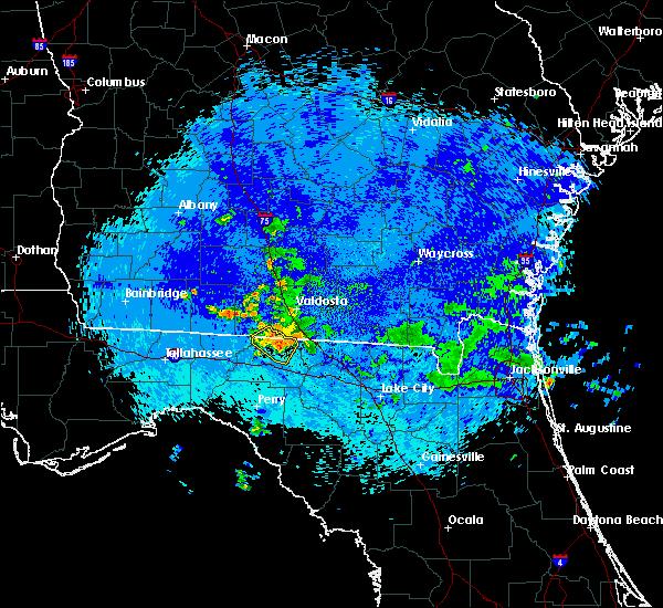 Radar Image for Severe Thunderstorms near Madison, FL at 9/4/2015 10:24 PM EDT