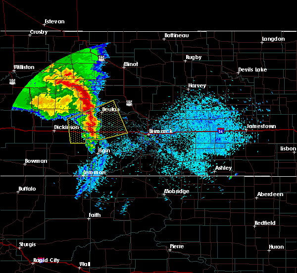 Radar Image for Severe Thunderstorms near Beulah, ND at 9/6/2015 12:25 AM MDT