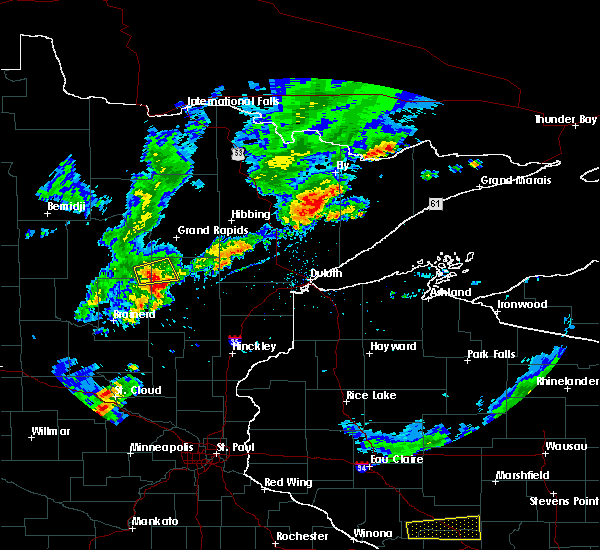 Radar Image for Severe Thunderstorms near Emily, MN at 9/6/2015 6:14 PM CDT