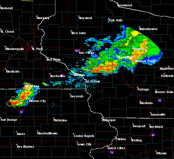 Radar Image for Severe Thunderstorms near Millston, WI at 9/6/2015 6:42 PM CDT