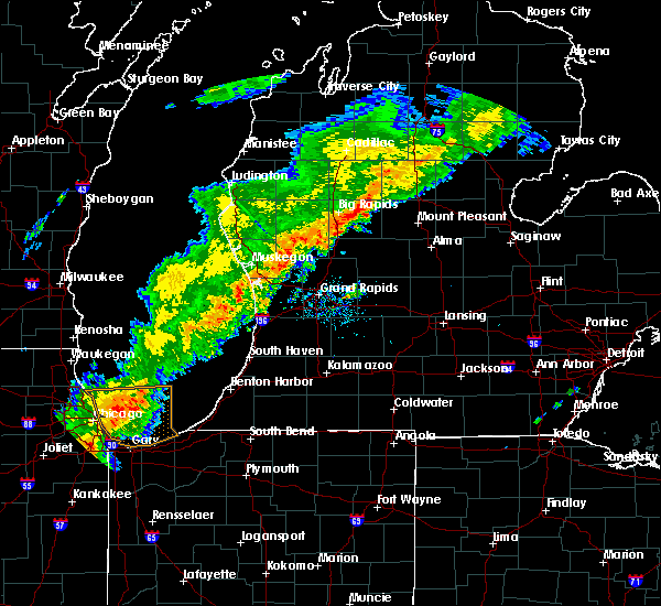 Radar Image for Severe Thunderstorms near Canadian Lakes, MI at 9/8/2015 2:34 PM EDT
