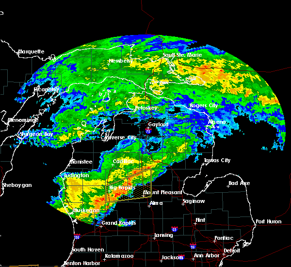 Radar Image for Severe Thunderstorms near Canadian Lakes, MI at 9/8/2015 2:48 PM EDT
