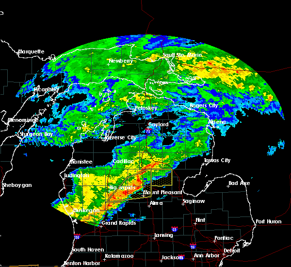 Radar Image for Severe Thunderstorms near Canadian Lakes, MI at 9/8/2015 3:03 PM EDT