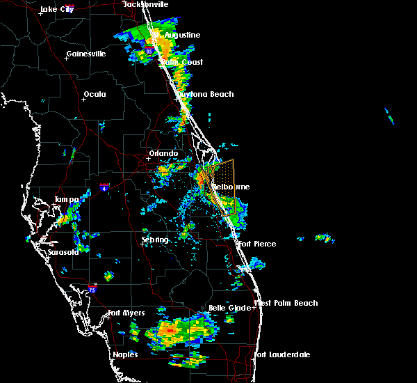 Radar Image for Severe Thunderstorms near Melbourne, FL at 9/8/2015 4:26 PM EDT