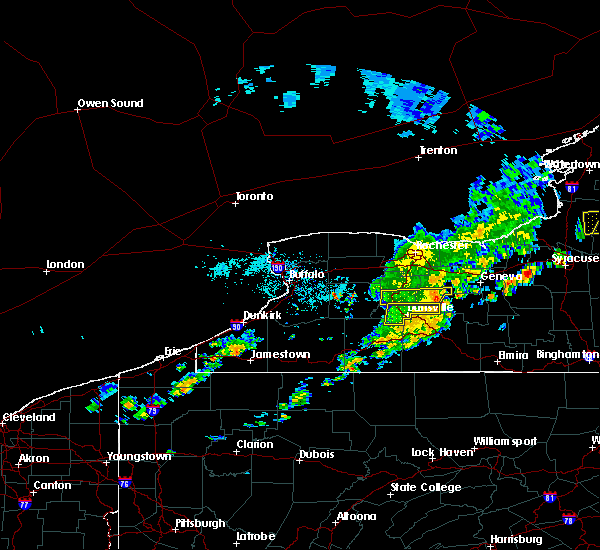 Radar Image for Severe Thunderstorms near Honeoye, NY at 9/9/2015 1:19 PM EDT