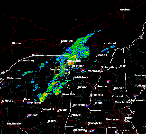 Radar Image for Severe Thunderstorms near Au Sable Forks, NY at 9/9/2015 3:58 PM EDT