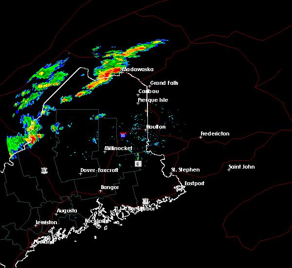 Radar Image for Severe Thunderstorms near Eagle Lake, ME at 9/9/2015 4:08 PM EDT