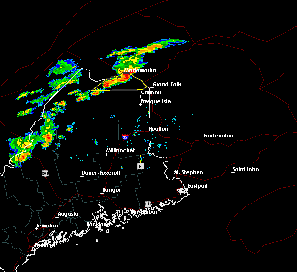 Radar Image for Severe Thunderstorms near Eagle Lake, ME at 9/9/2015 4:29 PM EDT