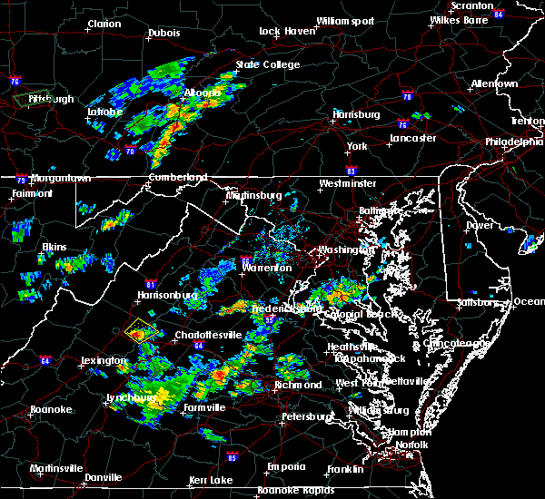 Radar Image for Severe Thunderstorms near Grottoes, VA at 9/9/2015 6:33 PM EDT