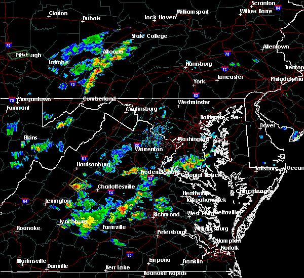Radar Image for Severe Thunderstorms near New Hope, VA at 9/9/2015 6:33 PM EDT