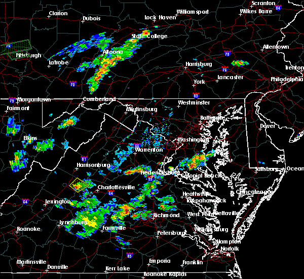 Radar Image for Severe Thunderstorms near Grottoes, VA at 9/9/2015 6:54 PM EDT