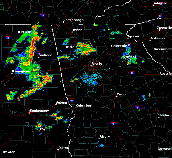 Radar Image for Severe Thunderstorms near Canton, GA at 9/9/2015 7:39 PM EDT