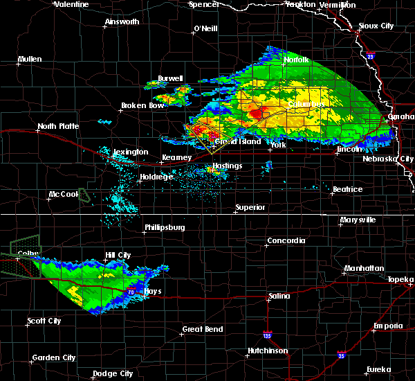Radar Image for Severe Thunderstorms near Grand Island, NE at 9/9/2015 7:38 PM CDT