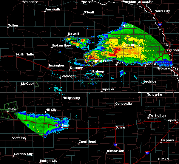 Radar Image for Severe Thunderstorms near Grand Island, NE at 9/9/2015 7:56 PM CDT