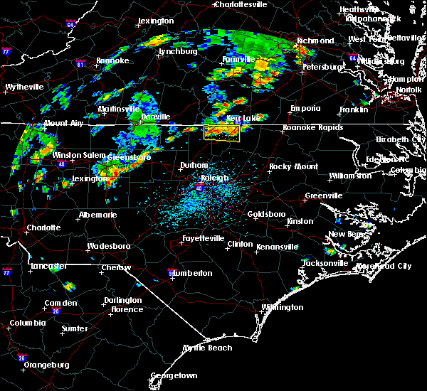 Radar Image for Severe Thunderstorms near Norlina, NC at 9/10/2015 4:36 PM EDT