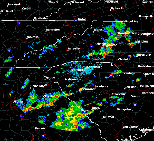 Radar Image for Severe Thunderstorms near Spencer Mountain, NC at 9/10/2015 4:52 PM EDT