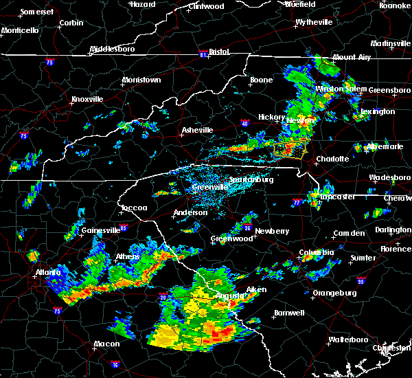 Radar Image for Severe Thunderstorms near Spencer Mountain, NC at 9/10/2015 5:10 PM EDT