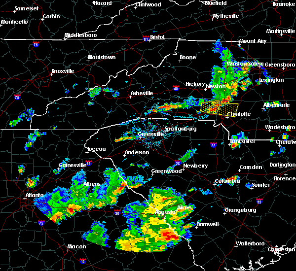 Radar Image for Severe Thunderstorms near Spencer Mountain, NC at 9/10/2015 5:32 PM EDT