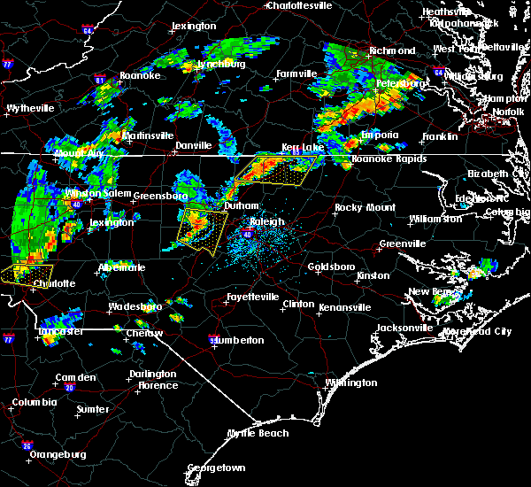Radar Image for Severe Thunderstorms near Oxford, NC at 9/10/2015 5:39 PM EDT